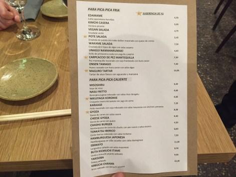 carta menu ramen dining yu