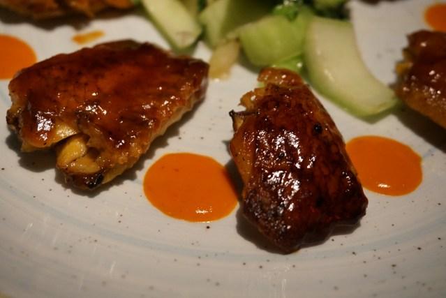 alitas de pollo L'EGGS Restaurant del Chef Paco Pérez