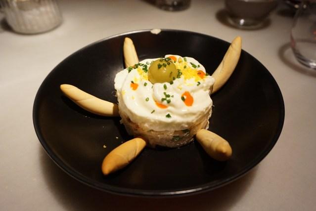 ensaladilla rusa L'EGGS Restaurant del Chef Paco Pérez