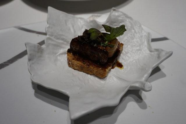 Montadito de Foie de La Taverna del Clínic