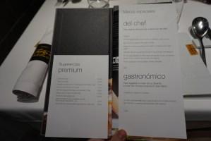 menu degustación de la Taverna del Clínic