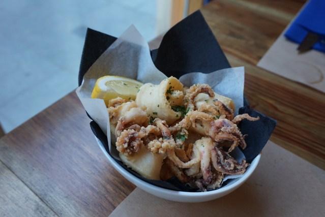 el catala restaurant Calamares a la andaluza