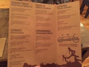 Carta y Platos del Restaurante La Castanya