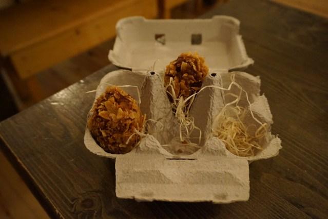 La Castanya Croquetones de pollo asado a la Marsala