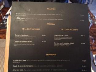 Carta y Platos The Market Perú