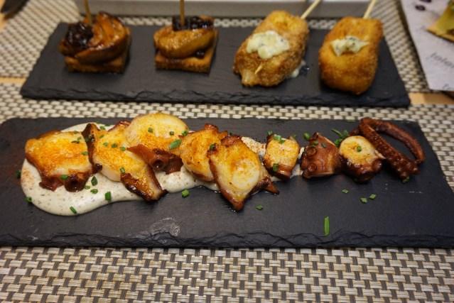 teleferic restaurant barcelona Pulpo a la Gallega trufado