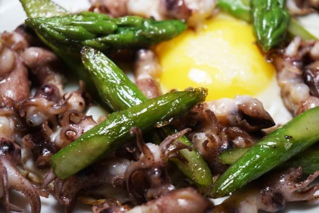 Casa Nova Barcelona Huevos con Chipirones