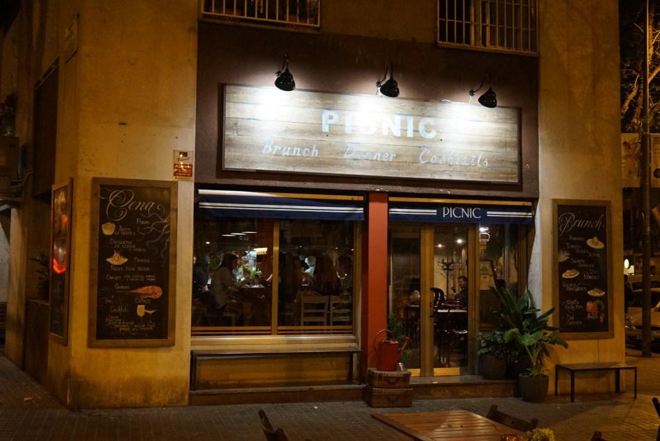Picnic Restaurant en el barrio del Born de Barcelona