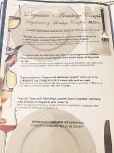 Can Formiga menu degustacion