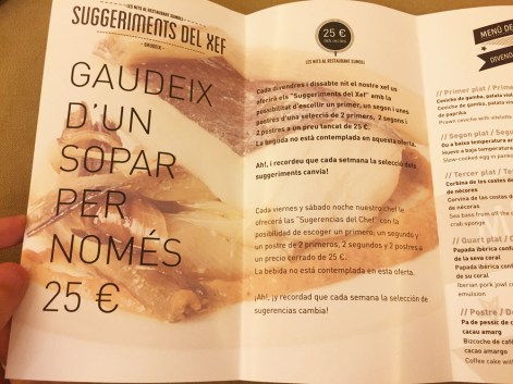 club sumoll menu degustacion