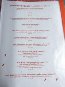 l'arroseria de cunit menu platos carta
