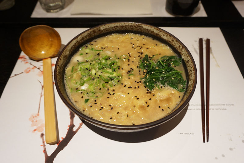 Tonkotsu Barcelona ramen de soja