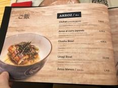 menu ryukishin restaurante