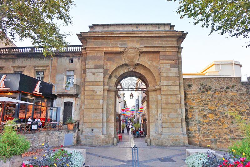 restaurant aurberge des lices carcassonne Portail des Jacobins