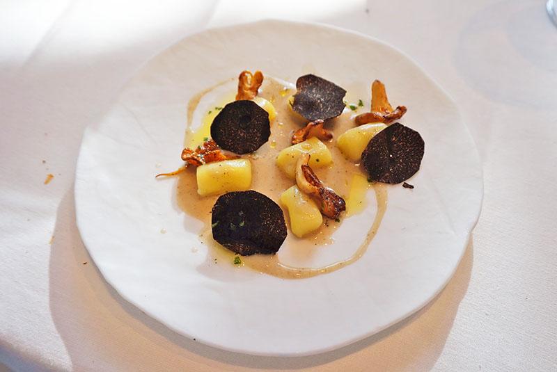 menu 2019 el celler de can roca restaurante gnocchis de patata con trufa y setas