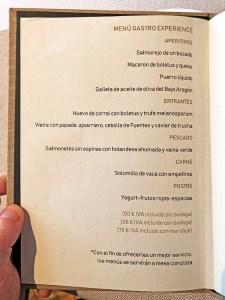 menu degustación restaurante novodabo zaragoza