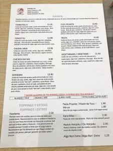 menu kanada ya barcelona