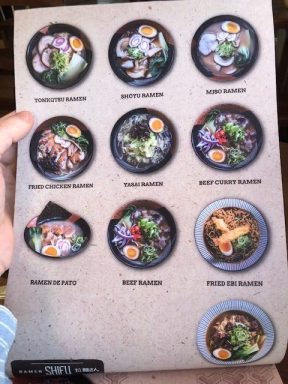 menu ramen shifu madrid