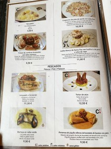 menu carta castell de besalú restaurante
