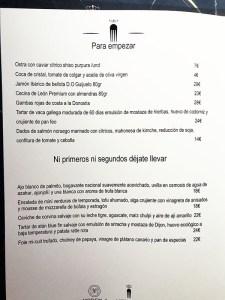 menu carta medusa y morena