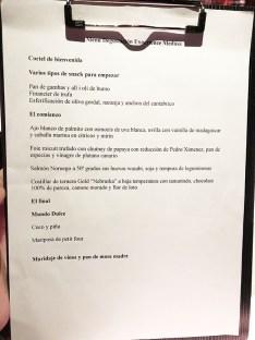menu carta medusa y morena barcelona