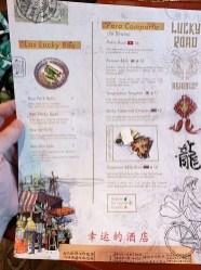 menu restaurante lucky road barcelona