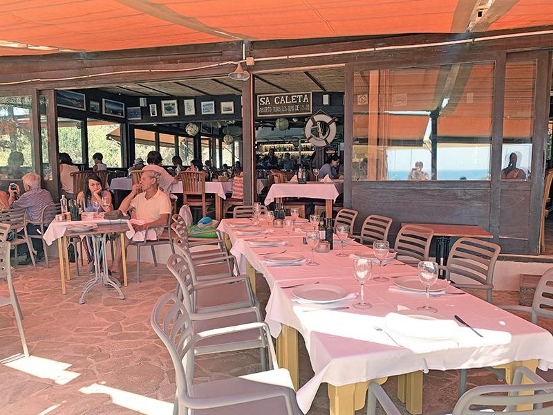 restaurante sa caleta ibiza
