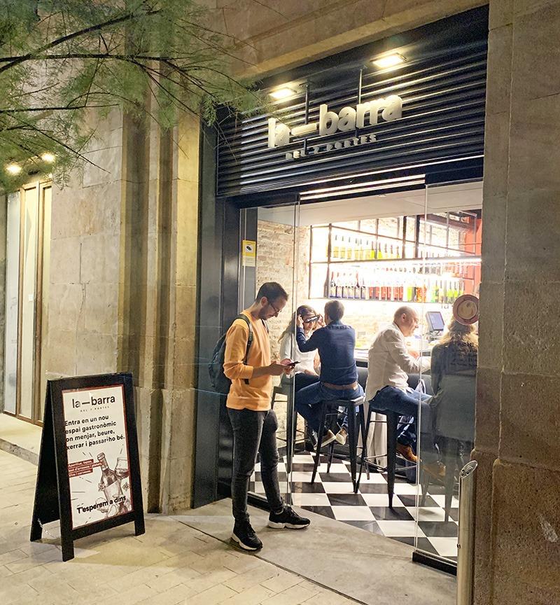 la barra del 7 portes restaurante barcelona