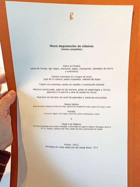 Menú Degustación 2020 El Celler de Can Roca