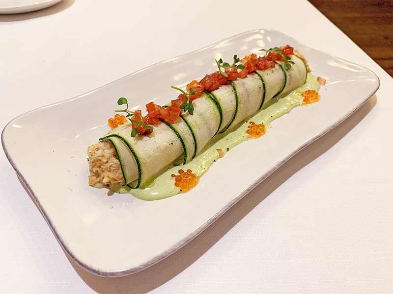 Restaurante L'Olivé canelón de txangurro