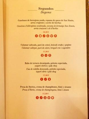 menu restaurante arume barcelona