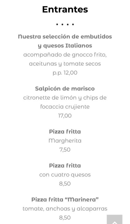 menu restaurante raffaelli