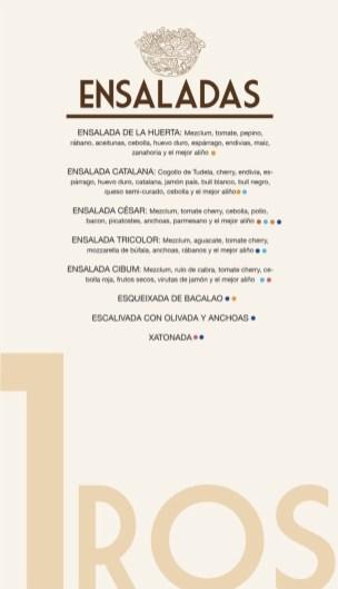 menu carta restaurante cibum