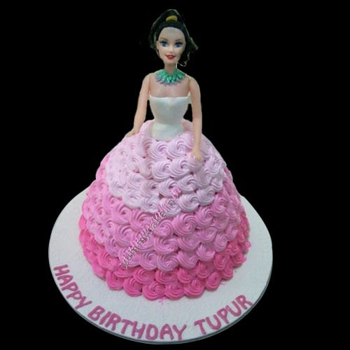 Barbie Doll Cake Online Free Home Delivery Yummycake