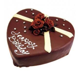 Order 1 Kg Heart Shape Chocolate Cake Yummycake