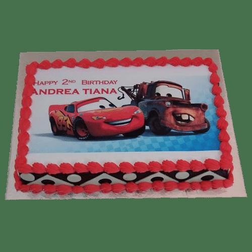Enter for a chance to win this eleg. Mcqueen Car Cake Online 100 Eggless Designer Cake Yummycake