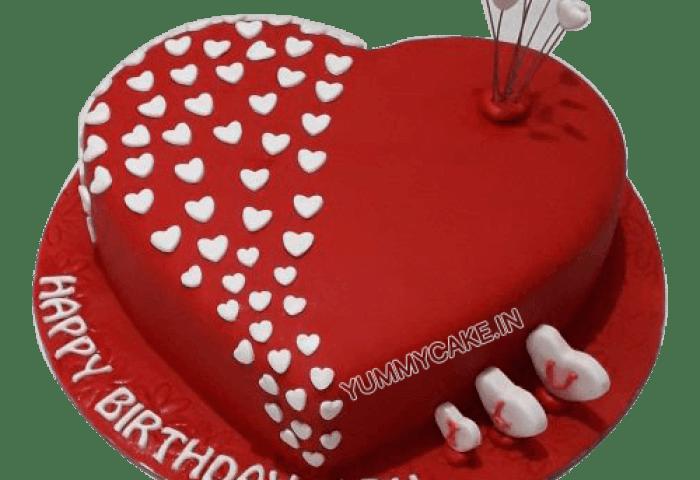 Heart Shaped Birthday Cake For Husband Order Online Yummycake