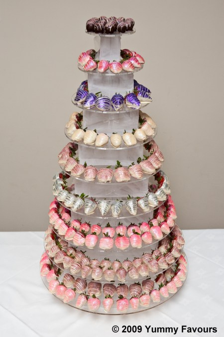 Chocolate Strawberries On A Towering Centrepiece The