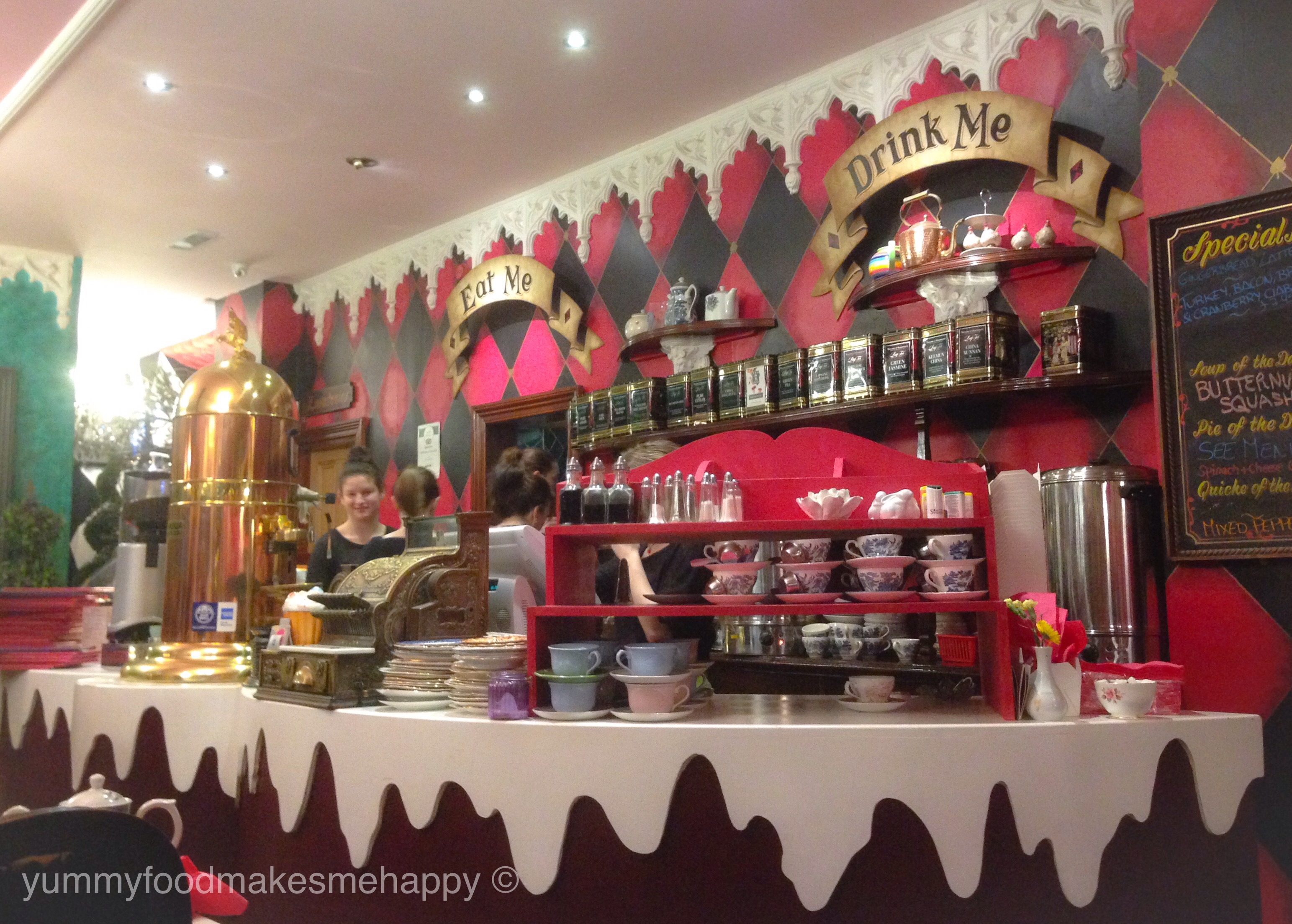 Richmond Tea Rooms  an Alice in Wonderland and Mad Hatter