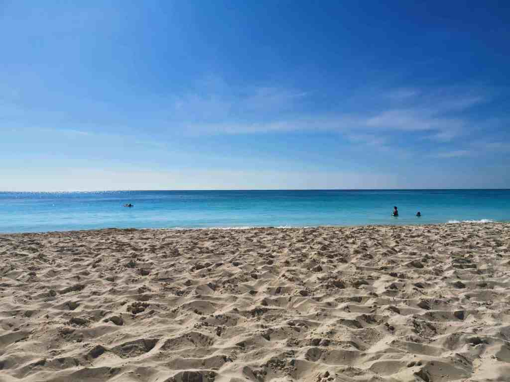 A picture of the beach in Cuba