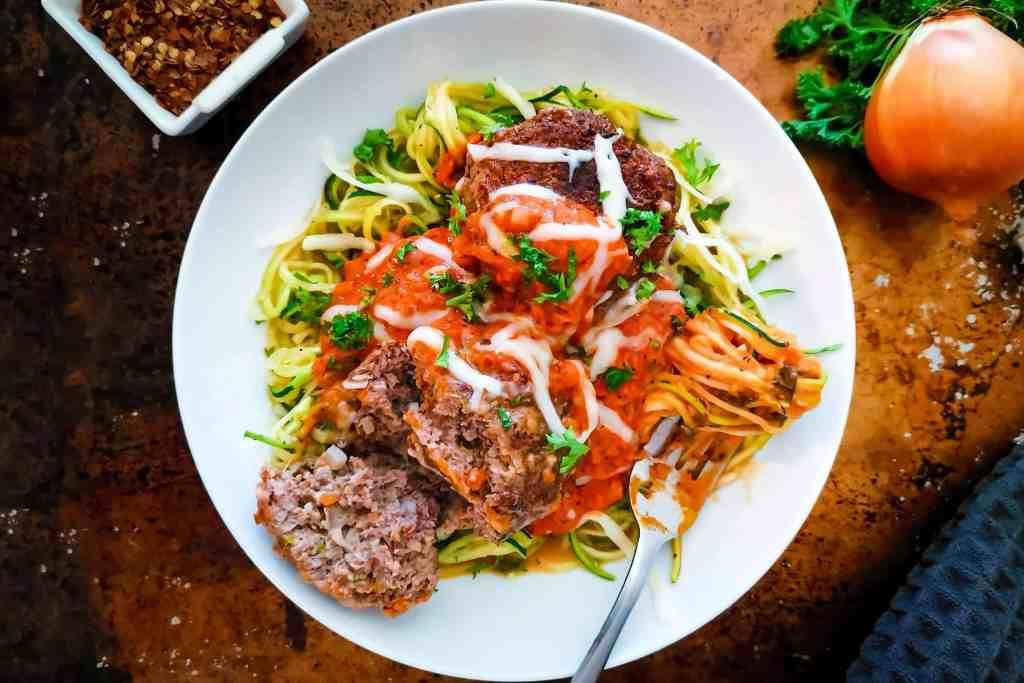 Keto Spaghetti and Meatballs Featured Image