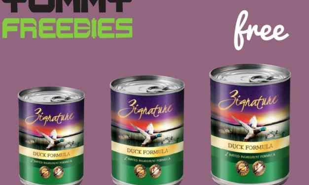 3 Free Zignature Pet Food Cans