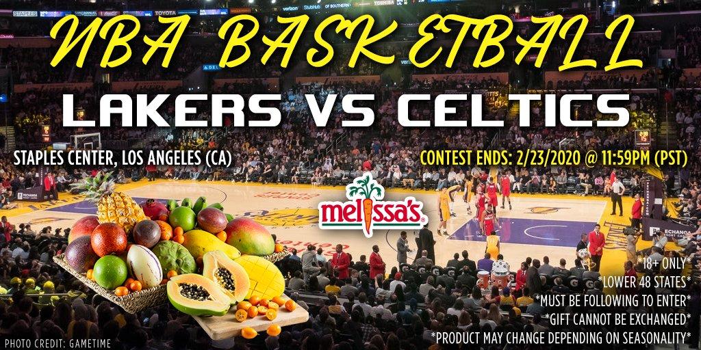 Melissa Produce NBA Gift Basket Twitter Giveaway