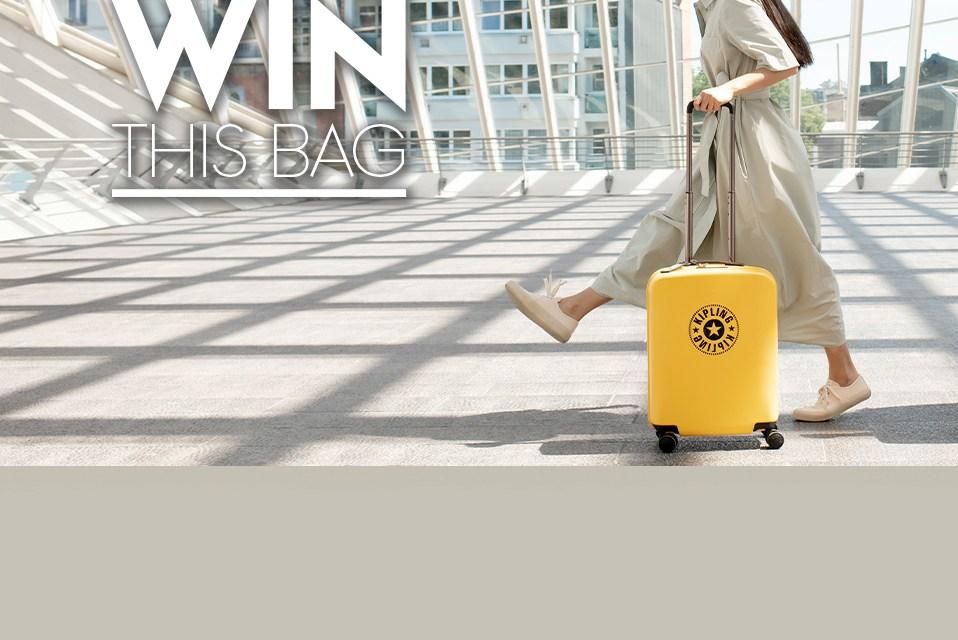 Free Kipling 4 Wheeled Hardshell Luggage Bag