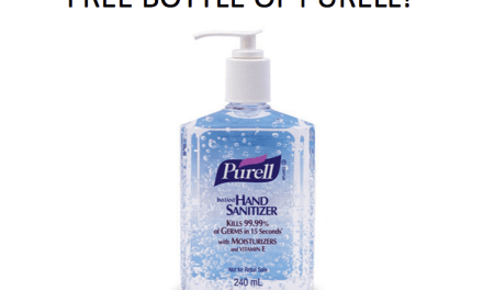 Free Bottles of Hand Sanitiser