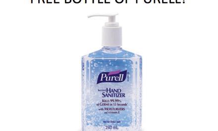 Free Bottles of Hand Sanitiser