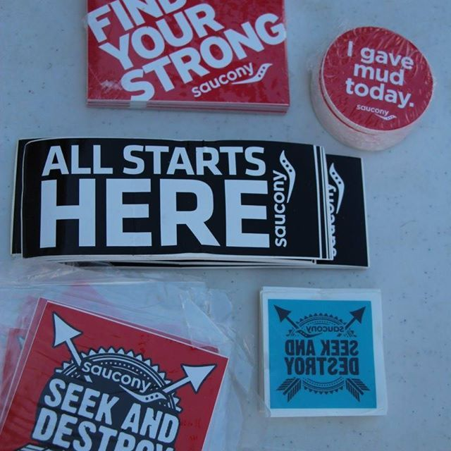 Free Saucony Stickers