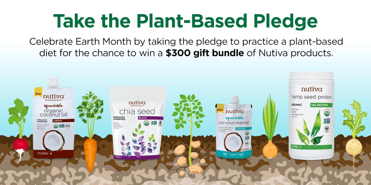 The Nutiva Plant-Based Pledge Sweepstakes