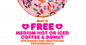 FREE Medium Hot/Iced Coffee and Donut