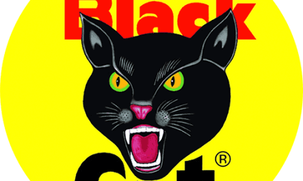 FREE Black Cat Fireworks Stickers